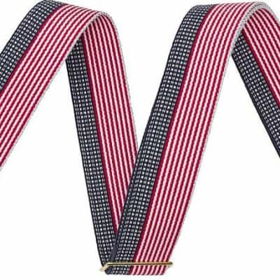 "Fender USA 2"" Cotton Strap, RED / WHITE / BLUE"