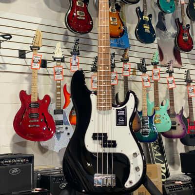 Fender Player Series Precision Bass Black Pau Ferro Fretboard w/ Free Shipping