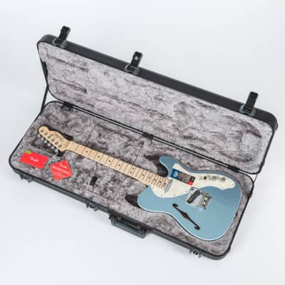Fender American Elite Telecaster Thinline with Maple Fretboard 2018 Mystic Ice Blue w/OHSC