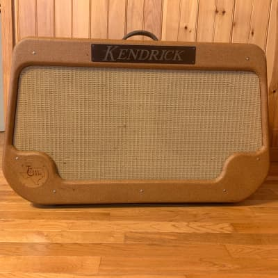 Kendrick Texas Crude 2x12 1990s Tweed Reverb/Tremolo Fane speakers and Kendrick Black Frames for sale