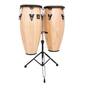 "Latin Percussion LPA646-AW Aspire Series 10"" / 11"" Conga Set w/ Stand"