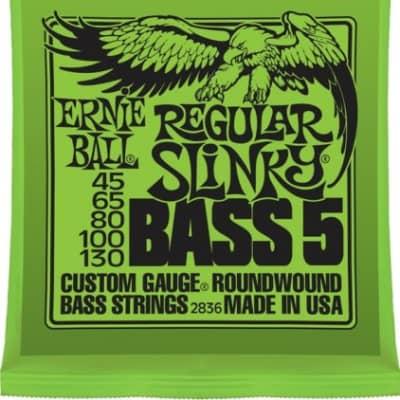 Ernie Ball 2836 Regular Slinky Bass Guitar Strings (5), .045 - .130