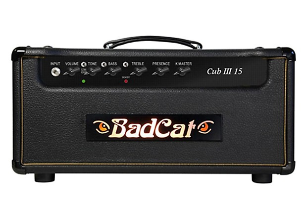 bad cat cub iii 15 15 watt guitar amp head reverb. Black Bedroom Furniture Sets. Home Design Ideas