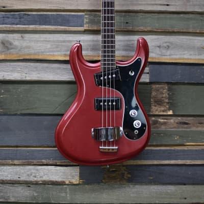 Mosrite Avenger Bass 1970's Burgundy for sale