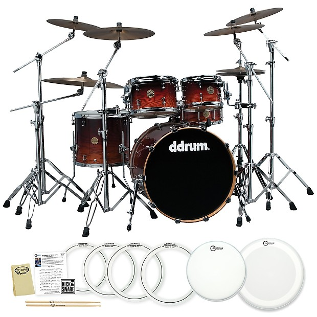 ddrum dios ash red burst 5 piece drum set with accessories reverb. Black Bedroom Furniture Sets. Home Design Ideas