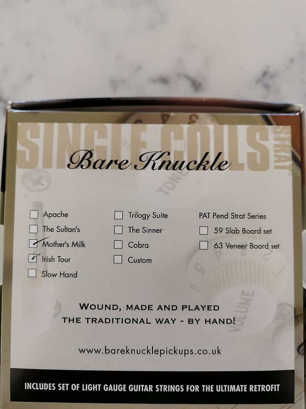 bare knuckle pickups mothers milk irish tour set reverb. Black Bedroom Furniture Sets. Home Design Ideas