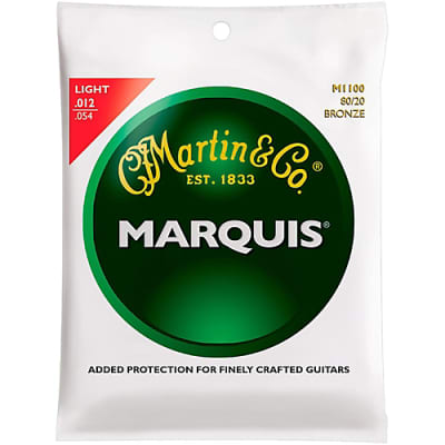 Martin MA140S Marquis 80/20 Bronze Acoustic Guitar Strings .012 - .054