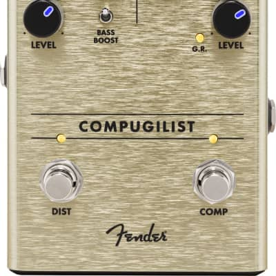 Fender Compugilist Compressor and Distortion Guitar Effects Pedal for sale