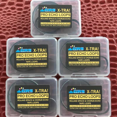 5 Roland Space Echo Tape Loops, Standard Length: 1 Meter Long, TL1m,  X-TRA' Pro Echo Loops Brand.