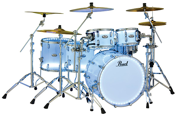pearl crystal beat frost acrylic drum set kit shell pack reverb. Black Bedroom Furniture Sets. Home Design Ideas