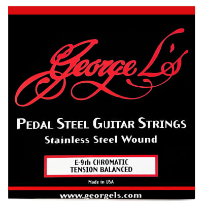 George L's Pedal Steel Stainless Steel Guitar Strings (E 9th Tension Balanced) for sale