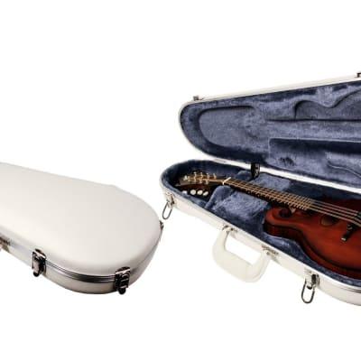 TKL Vectra® F-Style Mandolin Case  Glacier White™ Exterior made in the USA 2019