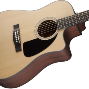 Fender CD-100CE Spruce/Mahogany Cutaway Dreadnought w/ Electronics Natural