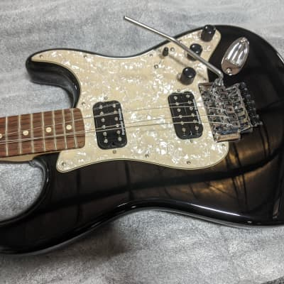 Fender HH Standard Strat 2012 Black w/ Floyd Rose Mod for sale