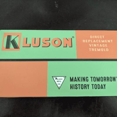 Kluson Kluson Left Hand Vintage Steel Block Tremolo Bridge Nickel fits Fender for sale