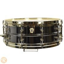 "Ludwig 5x14"" Black Beauty ""Brass On Brass"" Snare Drum w/ Brass Tube Lugs & P86 Millennium Strainer image"