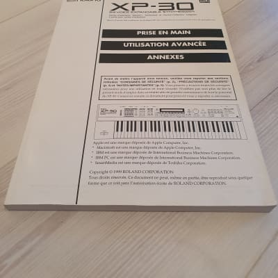 Roland XP-30 Manual. French Language. Good Condition. Global Ship.