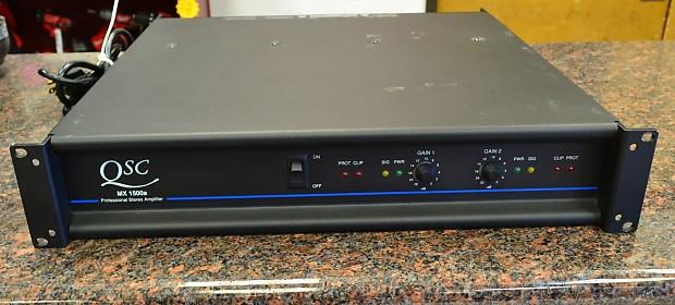 qsc mx1500a stereo power amplifier amp reverb. Black Bedroom Furniture Sets. Home Design Ideas