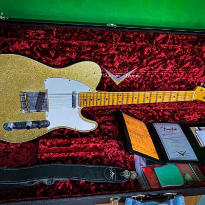 Fender Telecaster Custom Shop Postmodern Gold Sparkle Relic 2019 RELIC GOLD SPARKLE - RELIC BLACK BACK - MN for sale