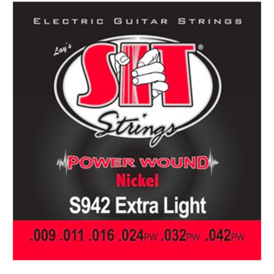 SIT Power Wound Electric Guitar Strings - Extra Light