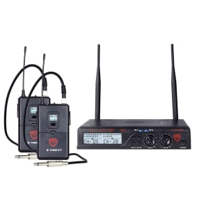 Nady U-2100-GT-AB Dual Channel Wireless Instrument System - Bands A and B
