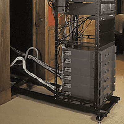 TWO Middle Atlantic AXS Series Custom Media Slide-Out Racks For In-Wall Application