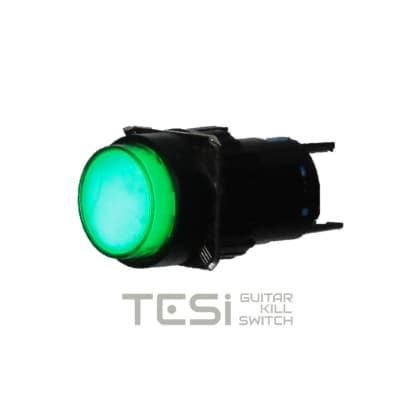 Tesi NELLI 16MM LED Plastic Pushbutton Momentary Guitar Kill Switch EVH Style Green