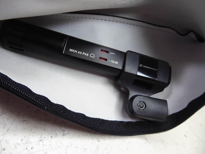 sennheiser mkh 40 p48 cardioid condenser microphone with clip reverb. Black Bedroom Furniture Sets. Home Design Ideas