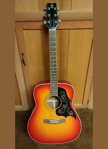 Nippon Auto Sales >> Yamaha Fg-295s 1975 Sunburst Vintage Acoustic Guitar Nippon   Reverb
