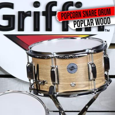 Griffin Popcorn Snare Drum - 10x6 Oak Poplar Wood Shell Firecracker Soprano