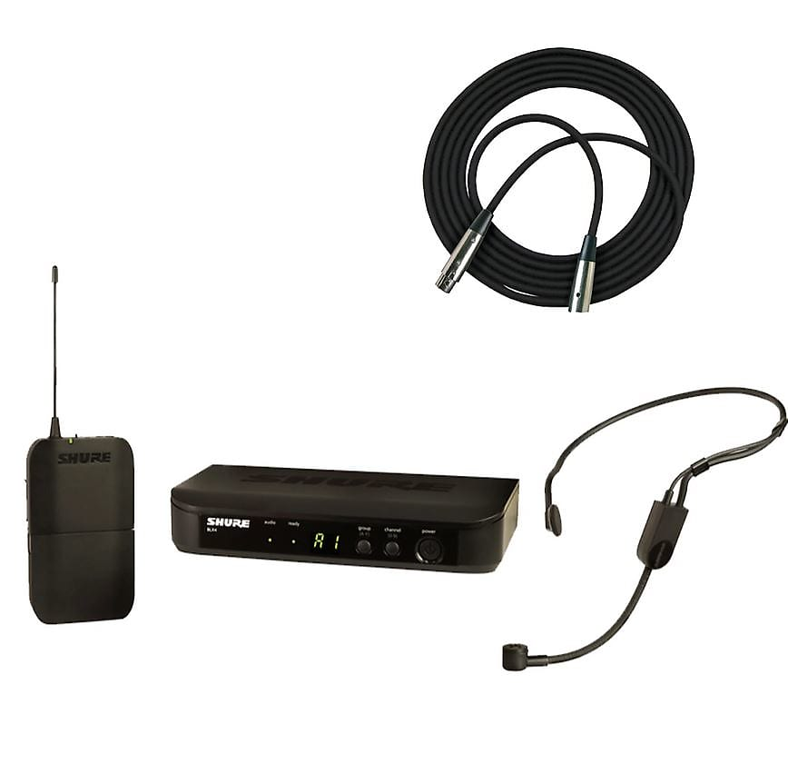 Shure BLX14/P31 Headworn Wireless System + Bonus 20' XLR Cable Bundle (H9 Freq.) 2019