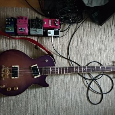 Kawai Rockoon Les Paul Bass 1990s Purple-burst for sale