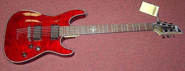schecter damien elite 6 string electric guitar crimson red reverb. Black Bedroom Furniture Sets. Home Design Ideas
