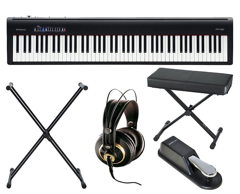 roland fp 30 digital piano stand bench akg k 240 studio reverb. Black Bedroom Furniture Sets. Home Design Ideas