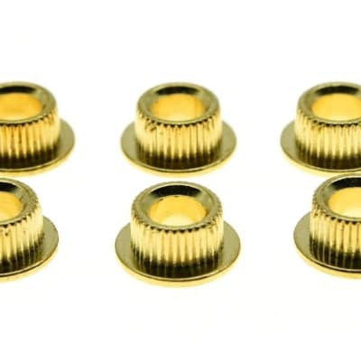 *NEW 10mm Conversion Bushings for Vintage Tuners Guitar Parts Set of 6 Gold