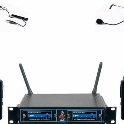 VocoPro UDHDUALB4 Pro Dual UHF/DSP Hybrid Wireless Mic System - New Open Box