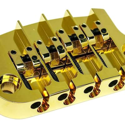 Hipshot SuperTone 3-Point Replacement Bridge for 4-String Gibson Bass - GOLD