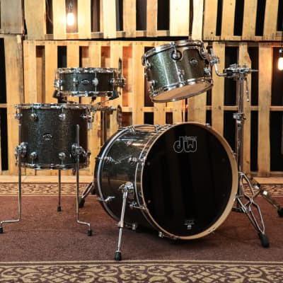 DW Performance Maple Pewter Sparkle Drum Set - 20,12,14,5.5x14