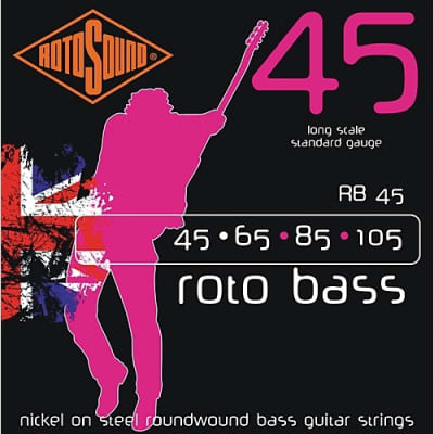 Rotosound RB45 Nickel Unsilked Bass Guitar Strings 45-105