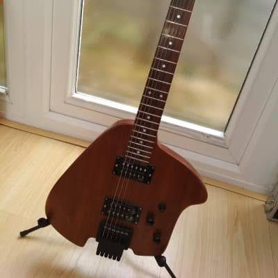 Klein Style Headless Ergonomic Solid Body Electric Travel Guitar for sale