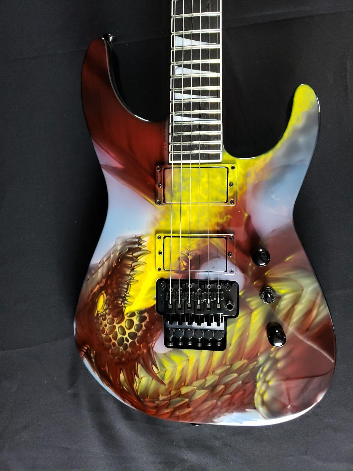 Jackson USA Custom Shop - Red Dragon Guitars Mike Learn Exclusive Dragon Fire SL2