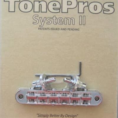 TonePros T3BP-C Standard Tuneomatic Bridge with Notched Saddles Chrome