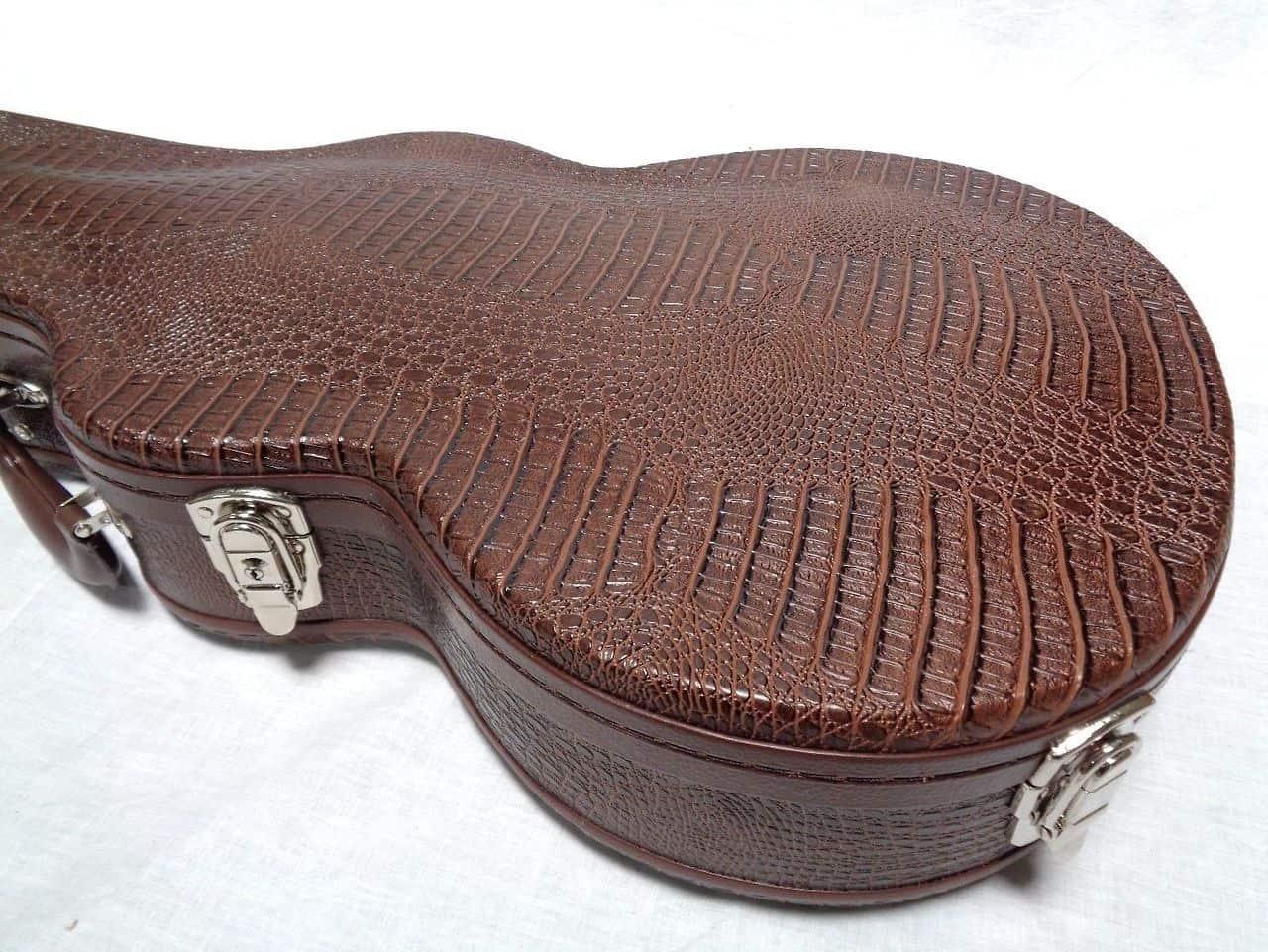 allen eden brown alligator skin hardshell guitar case for reverb. Black Bedroom Furniture Sets. Home Design Ideas