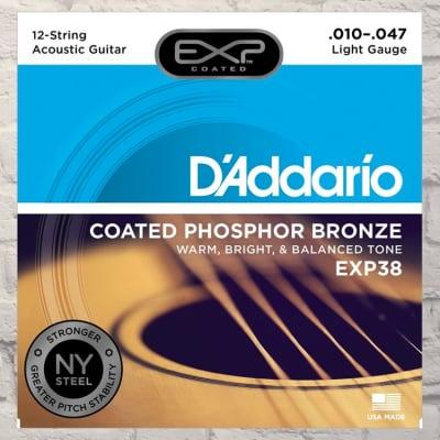 D'Addario EJ38 12-String Light Phosphor Bronze Acoustic Strings 10-47