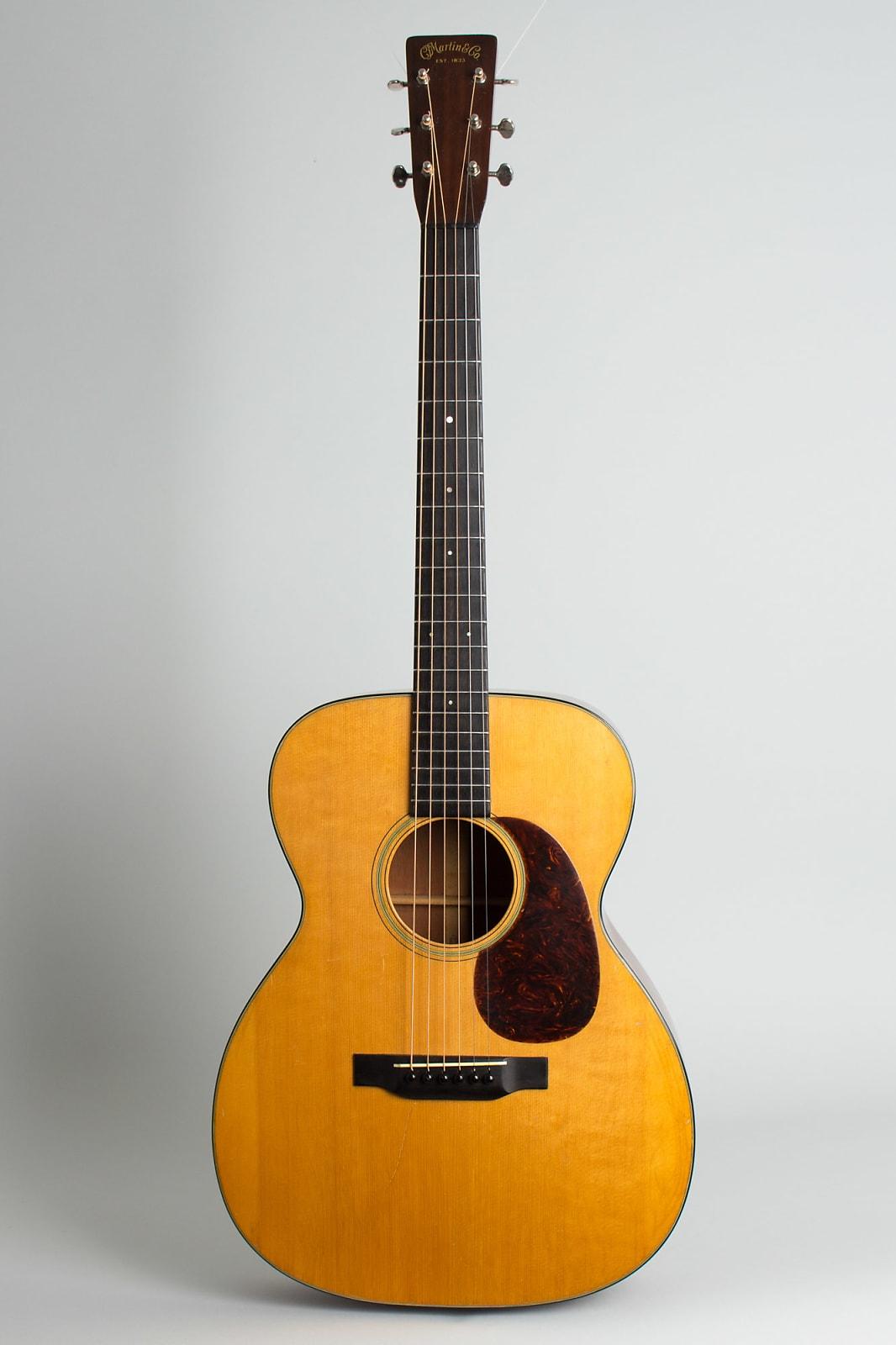 C. F. Martin  000-18 Flat Top Acoustic Guitar (1934), ser. #55289, period black hard shell case.