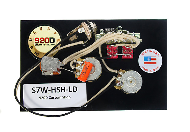920D Custom Shop S7W-HSH-LD 7-Way HSH Strat Wiring Harness for Lace on