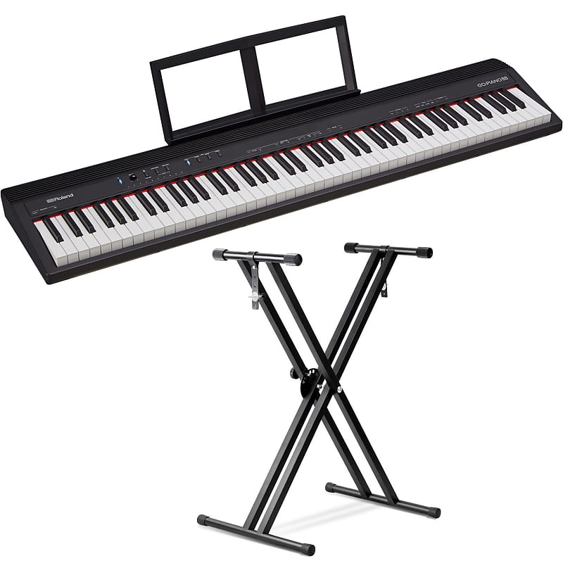roland go piano 88 key digital piano with front row keyboard reverb. Black Bedroom Furniture Sets. Home Design Ideas