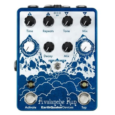 EarthQuaker Devices Avalanche Run Stereo Reverb & Delay with Tap Tempo V2