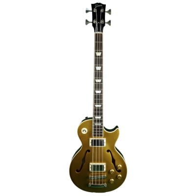 2016 Gibson Semi-Hollow Memphis ES-Les Paul Bass in Goldtop w/ Original Gibson Hard Shell Case for sale