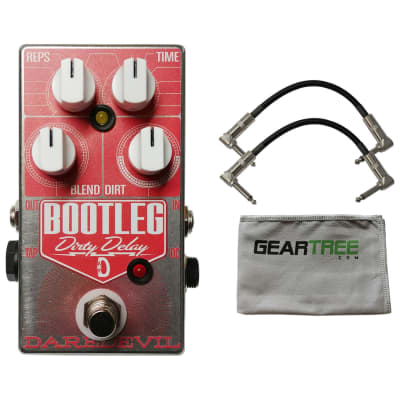 Daredevil Bootleg Dirty Delay Pedal w/ Geartree Cloth and 2 Cables